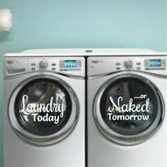 Laundry room decor - great laundry room vinyls!