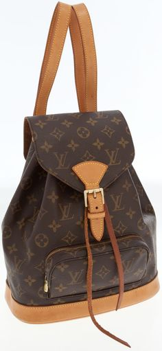 One of my first LV!  Still have it and love it!  Louis Vuitton Classic Monogram Canvas Montsouris MM Backpack Bag