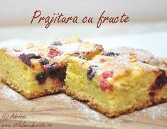 Prajitura simpla cu fructe Cheesecake, Muffin, Sweets, Breakfast, Desserts, Food, Morning Coffee, Tailgate Desserts, Deserts