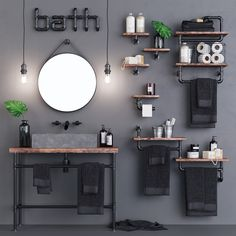 Loft Bathroom Set Loft Bathroom Set on Behance Loft Bathroom, Rustic Bathroom Vanities, Bathroom Sets, Bathroom Furniture, Modern Bathroom, Small Bathroom, Master Bathroom, Bathroom Lamps, Shiplap Bathroom