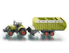 The 1/87 Claas Tractor with Trailer from the Siku Farmer Series - Discounts on all Siku Diecast Models at Wonderland Models.    One of our favourite sets in the Siku Farmer Series 1/87 Scale range is the Siku Claas Tractor with Trailer.    Siku manufacture wonderful, amazingly accurate and detailed diecast models of all sorts of vehicles, particularly tractors and trailers including this Claas Tractor with Trailer which can be complemented by any of the items in the Farmer Series range.