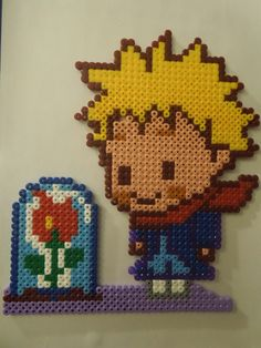 The Little Prince hama perler beads by Cristina Arribas