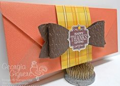 DIY gift packaging for chocolate bar. . .using the Envelope Punch Board!