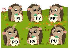 Jeżyki i dwie połówki jabłka - sylaby otwarte z P i M - Printoteka.pl Kids Logo, Kids Education, Adult Coloring Pages, Speech Therapy, Activities For Kids, Logos, Children, Diy, Activities