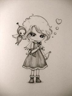 Dibujo a lápiz / a pencil drawing
