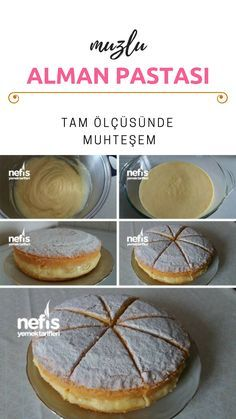 Yumuşacık Muzlu Alman Pastası (Orjinal Tarif) – Nefis Yemek Tarifleri How to make a German Pie (Original Recipe) with Squishy Banana? Cheesecake Recipes, Dessert Recipes, German Cake, Good Food, Yummy Food, Turkish Recipes, Original Recipe, Sweet Recipes, Delicious Desserts