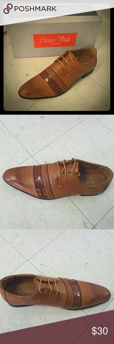 Mens brown laceup dress shoe size 11 Mens brown laceup dress shoe size 11 Marco Vitale Collezione  Shoes Oxfords & Derbys
