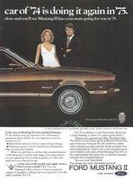Ford Mustang II Ghia Automatic 1974 Ad Picture