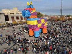 Piñatas everywhere