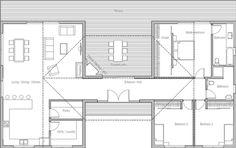 Planos de casas de 3 dormitorios y un piso