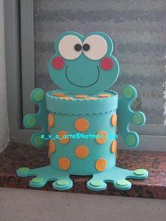 Sapito Kids Crafts, Frog Crafts, Tin Can Crafts, Diy Home Crafts, Diy Arts And Crafts, Paper Crafts, Diy Para A Casa, Preschool Decor, Bottle Crafts