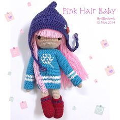 My Crochet Doll No.11 @ pink hair baby