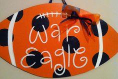 Cute door hanger for any Auburn fan!