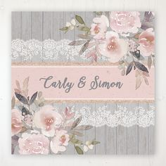 A vintage style, floral themed collection of wedding stationery products featuring lace, gold and blush pink tones on a grey wooden background. Wedding Thank You Cards, Wedding Invitation Cards, Wedding Stationery, Invites, Name Place Cards, Name Cards, Place Names, Wedding Table, Rustic Wedding