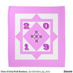 Shop Class of 2020 Pink Graduation Day Bandana by Janz created by Calendars_by_Janz. Shop Class, Class Of 2019, Graduation Day, Dog Bowtie, School Spirit, Birthday Celebration, Bandana, Back To School, Create Yourself