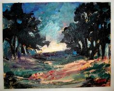 Gail Grant original signed acrylic Painting abstract landscape impressionism COA #Abstract