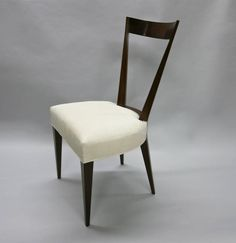 Eight Dining Chairs in the Style of Gio Ponti, Made in Italy, circa 1950 | From a unique collection of antique and modern dining room chairs at https://www.1stdibs.com/furniture/seating/dining-room-chairs/