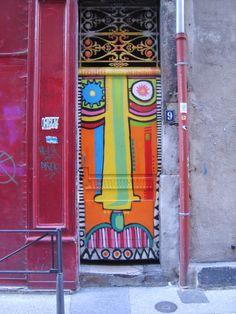 A really funny door, in the streets of Lyon, France.