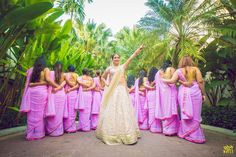 12 Fabulous Bridesmaids Photo Shoot Ideas To Steal From Real Weddings Bridesmaid Poses, Brides And Bridesmaids, Indian Wedding Planning, Wedding Planning Websites, Wedding Photography Poses, Night Photography, Wedding Vendors, Perfect Wedding, Real Weddings