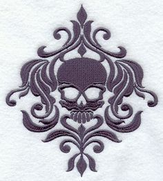 Hey, I found this really awesome Etsy listing at http://www.etsy.com/listing/78831818/damask-skull-centerpiece-embroidered