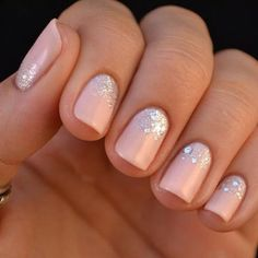 Cute light pink with rhinestones (: