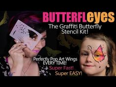 Learn to create and apply stencils - Face Painting Made Easy PART 6 - YouTube