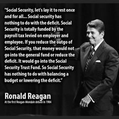 Where social security does have trouble is the expansion of those eligible to receive benefits. So, let's fund disabilities another way and STOP the madness, the constant raiding, and the need to destroy a fundamental safety net. Political Memes, Before Us, Social Justice, Social Security, Great Quotes, Quote Of The Day, Quotations, Jokes, Wisdom