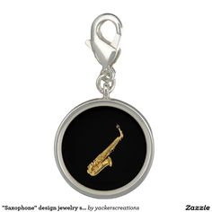 """Saxophone"" design jewelry set Charms"
