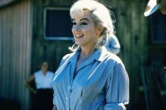 "Marilyn Monroe on the set of ""The Misfits"", 1961."