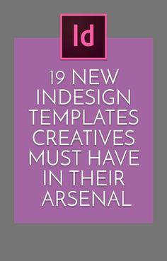 19 New InDesign Templates Creatives Must Have in Their Arsenal Font Design, Graphisches Design, Graphic Design Trends, Graphic Design Tutorials, Graphic Design Inspiration, Vector Design, Layout Inspiration, Pattern Design, Adobe Illustrator