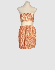 Silk with orange appliques... or beading... not sure, but cute!  was 460, now $98, wowza.