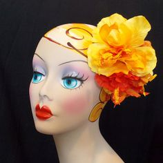 Tropical Paradise Carmen Miranda Orange and by VivaDulceMarina, $24.95