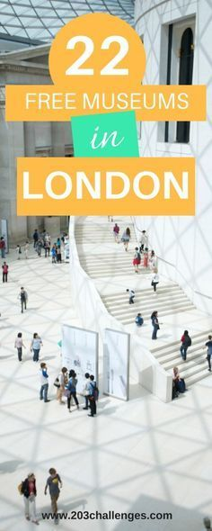 LONDON, England. Discover the best free museums and galleries in London| free things to do | UK | UK destinations