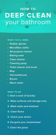 Here's how to deep clean your bathroom like a pro. There's a list of what you'll need and what to do for spring cleaning. Cleaning Spray, Bathroom Cleaning, Diy Cleaning Products, Deep Cleaning, Spring Cleaning, Cleaning Quotes, Cleaning Hacks, Pee Stains, Calendula Benefits