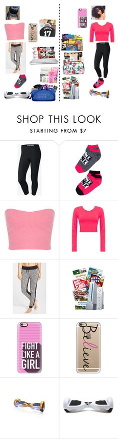 """Sleepover"" by kelisstar1 ❤ liked on Polyvore featuring NIKE, Miss Selfridge, Marc New York, NARS Cosmetics, Casetify and CO"