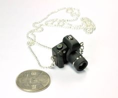 Personalized Canon 600D Camera miniature necklace by JnPol on Etsy, $20.00