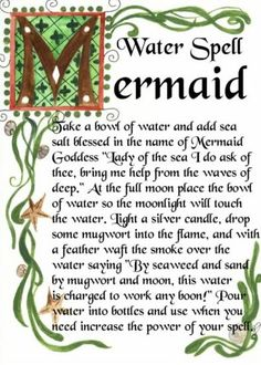 Witches spells images water spell Witchcraft, Pagan and Wicca.