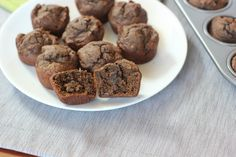 Chocolate Avocado Muffins - I Heart Vegetables (IMM #111)