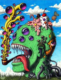 25 trippy pictures & gifs that will mess with your mind…. Trippy Drawings, Psychedelic Drawings, Art Drawings, Alien Drawings, Image Psychedelic, Trippy Alien, Lsd Art, Trippy Mushrooms, Trippy Pictures