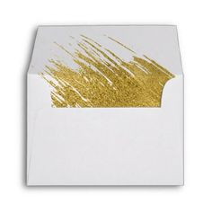 Modern Gold Wedding A2 Thank You Envelope - wedding thank you gifts cards stamps postcards marriage thankyou