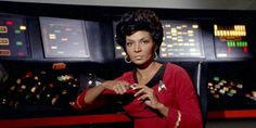 "Nichelle Nichols portrayed Lieutenant Nyota Uhura on the TV show ""Star Trek"", Star Wars, Star Trek Tos, Nichelle Nichols, Sci Fi Tv Series, United Federation Of Planets, Hidden Figures, Star Trek Characters, Uss Enterprise, Space Travel"