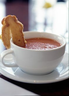 Tomato Bisque Soup, the pinner promises it is the best soup in the world!