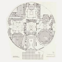 Madhya Pradesh Legislative Assembly in Bhopal, India by Charles Correa Art Nouveau Architecture, Architecture Plan, Critical Regionalism, State Assembly, Science Park, Gym Interior, Plan Drawing, Postmodernism, Smash Book