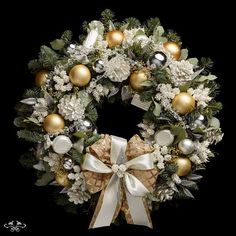 """Neill Strain Floral Couture luxury Christmas door wreath """"Noel"""" can be ordered online Christmas Door Wreaths, Christmas Door Decorations, Xmas Ornaments, London Christmas, Christmas Time, Christmas Ideas, Christmas Christmas, Christmas Crafts, Luxury Christmas Decor"""