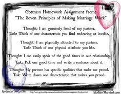 Marriage Love-Work from John Gottman's The Seven Principles of Making Marriage work.   Love John Gottman!