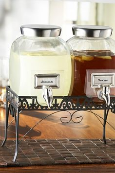 Clear Williamsburg Glass Beverage Dispenser Set with Stand on HauteLook
