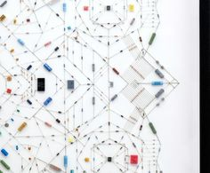 Delicate Electronic Mandalas: Making Patterns with Pieces of Tech Parts | Jeannie Huang