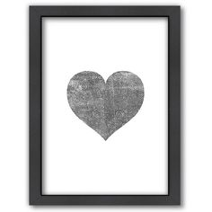 Americanflat Love Heart Swinging Framed Wall Art (900 EGP) ❤ liked on Polyvore