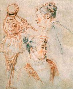 Dibujos de Jean-Antoine Watteau en Londres