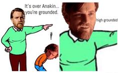 How Obi-Wan deals with Anakin's disobedience.